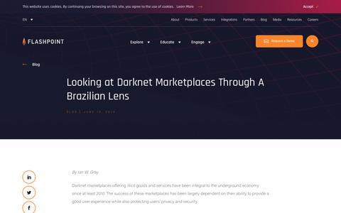 Screenshot of Blog flashpoint-intel.com - Flashpoint - Looking at Darknet Marketplaces Through A Brazilian Lens - captured Nov. 12, 2019