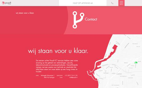 Screenshot of Contact Page prosoft.nl - Prosoft ICT » Contact - captured Sept. 30, 2018