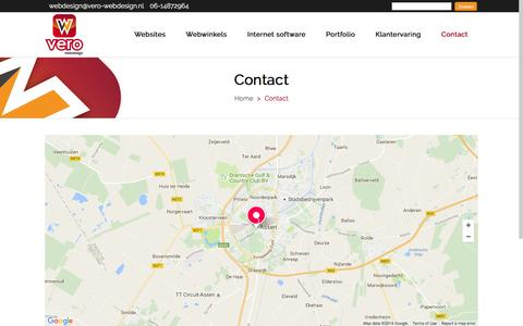 Screenshot of Contact Page veronica-webdesign.nl - Veronica Webdesign | Contact Veronica Webdesign - captured Aug. 13, 2016