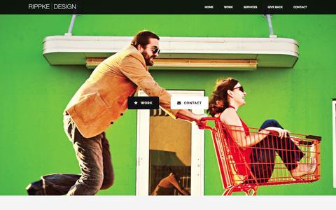 Screenshot of Home Page rippkedesign.com - Rippke Design | Graphic Design + Web Design & Development | Nashville, TN - captured Jan. 29, 2015