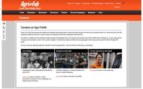 Screenshot of Jobs Page agri-fab.com - Careers at Agri-Fab - captured May 29, 2017
