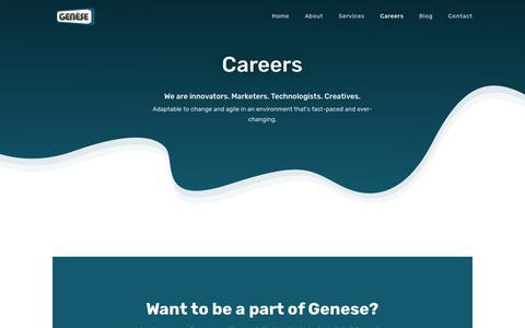 Screenshot of Jobs Page genesesofts.com - Careers - Genese Software Solution - captured Dec. 7, 2018