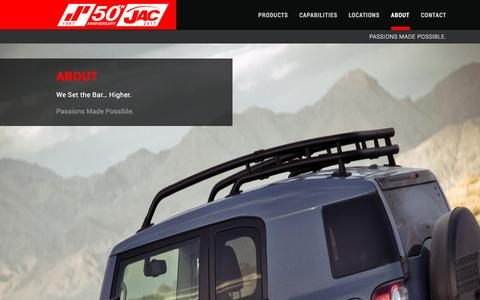 Screenshot of About Page jacproducts.com - About | JAC Products - captured July 26, 2018