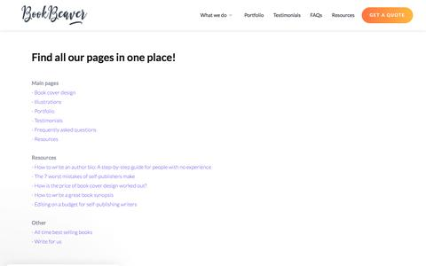 Screenshot of Site Map Page bookbeaver.co.uk - Sitemap   Book Beaver - captured Nov. 20, 2019