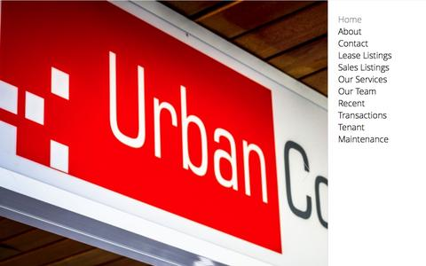 Screenshot of Home Page urbancommercial.com.au - Urban Commercial Property Group - Home - captured Oct. 6, 2014
