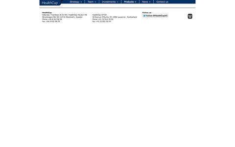 Screenshot of Products Page healthcap.se - Products   HealthCap - captured Oct. 28, 2014