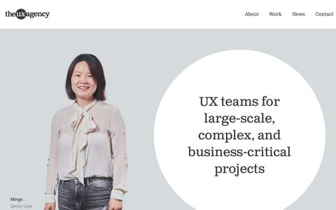 Screenshot of About Page theuxagency.co.uk - The UX Agency - About - captured Oct. 10, 2019