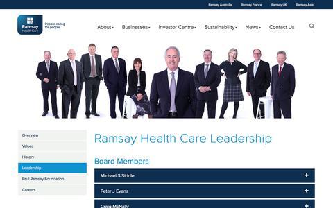 Screenshot of Team Page ramsayhealth.com - Ramsay Health Care Leadership - captured Jan. 10, 2018