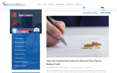 Screenshot of Blog cravensnoll.com - Blog | Cravens & Noll PC | Virginia | Richmond, VA - captured Sept. 30, 2018