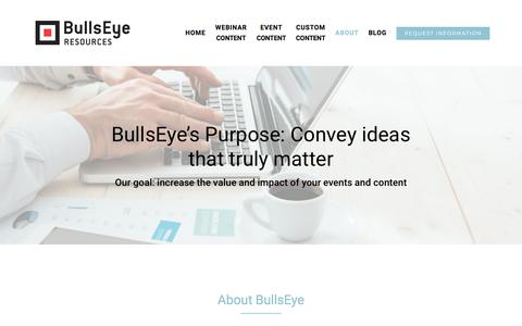 Screenshot of About Page bullseyeresources.com - ABOUT – BullsEye Resources - captured Aug. 4, 2018
