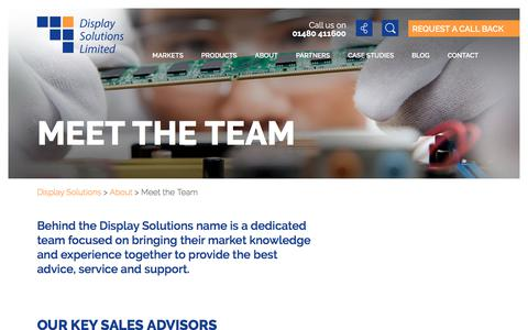 Screenshot of Team Page displaysolutions.co.uk - Meet the Team - Display Solutions - captured Oct. 12, 2017