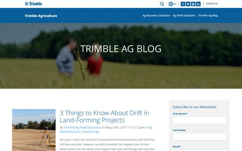 Screenshot of Blog trimble.com - Blog | Trimble Agriculture - captured May 27, 2017