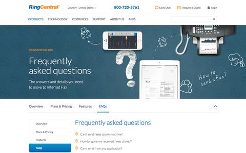 Frequently Asked RingCentral Fax Questions | RingCentral Fax