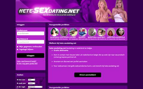 Screenshot of Home Page hete-sexdating.net - Hete-sexdating.net – Sexdating in nederland en belgie. - captured Sept. 24, 2018