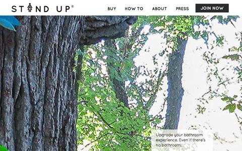 Screenshot of Home Page the-stand-up.com - Stand Up and Join the Urination - captured Dec. 11, 2015