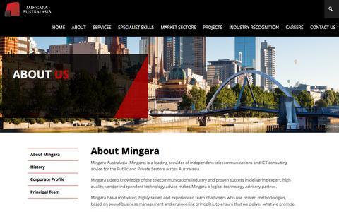 Screenshot of About Page mingara.net.au - About Mingara - captured Nov. 29, 2016