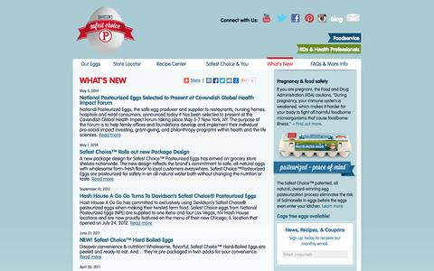 Screenshot of Press Page safeeggs.com - News about eggs and Safest Choice™ Eggs - captured Oct. 26, 2014