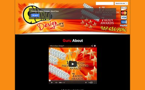Screenshot of About Page google.com - About - Mount Dora - Freelance Graphic Design - captured Oct. 27, 2014