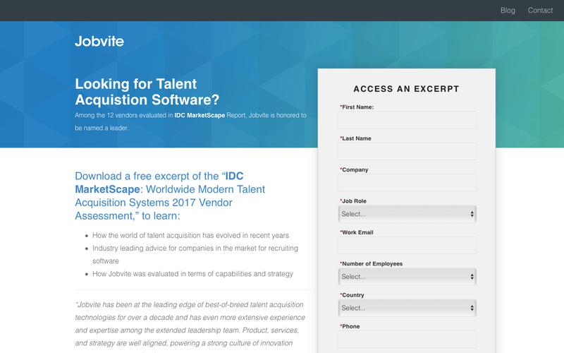 Jobvite Named a Leader in IDC MarketScape