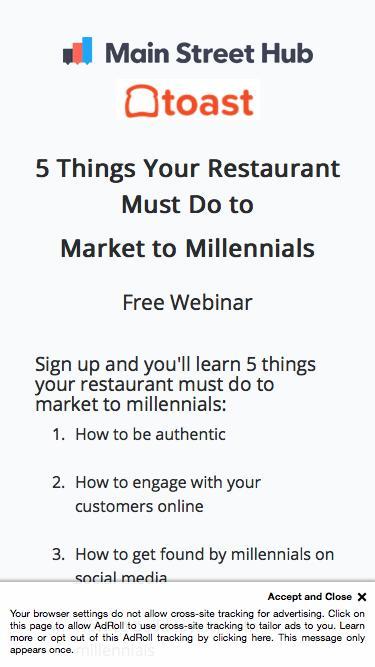 Free Webinar: Main Street Hub & Toast
