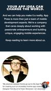 New Landing Page App Press LLC