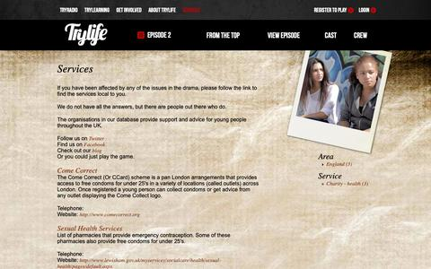 Screenshot of Services Page trylife.tv - Services   TryLife - captured Oct. 19, 2018
