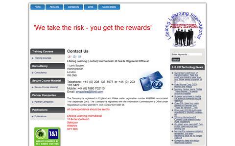 Screenshot of Contact Page lllintl.com - Contact Us - captured Feb. 4, 2016
