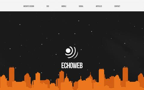 Screenshot of Home Page echoweb.com.au - Echoweb - Melbourne Website Development - captured March 1, 2016