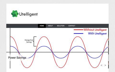 Screenshot of Menu Page utelligent.com - Utelligent | Modernizing Power Distribution and Transmission - captured Oct. 7, 2014
