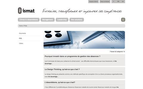 Screenshot of FAQ Page ismat.ch - ismat - FAQ - captured Oct. 6, 2014