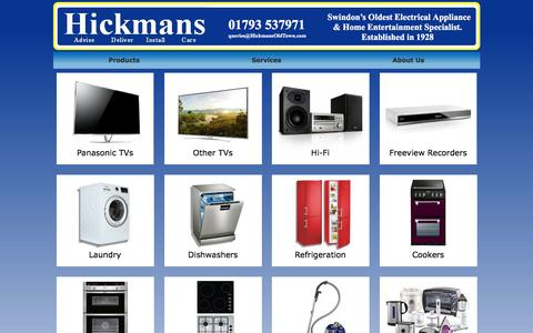 Screenshot of Home Page hickmansoldtown.com - Hickmans | Your local TV, Hifi & Domestic Appliance specialist - captured Nov. 8, 2016