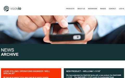 Screenshot of Blog visionio.com - Blog - Vision iO - WellCAM, Downhole Camera - captured Oct. 18, 2018