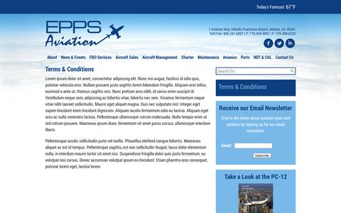 Screenshot of Terms Page eppsaviation.com - Terms & Conditions « - captured Sept. 30, 2014