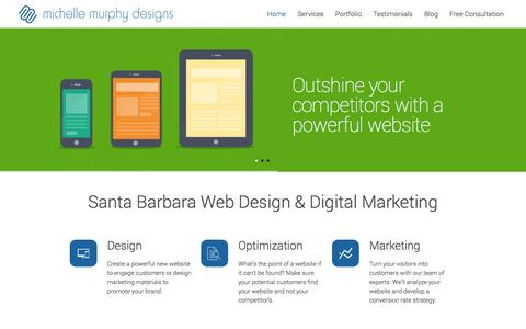 Screenshot of Home Page ellehaves.com - Santa Barbara Web Design & SEO - captured Oct. 3, 2014