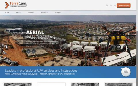 Screenshot of Home Page terracam.co.za - TerraCam | Professional UAV Services - captured Feb. 28, 2016