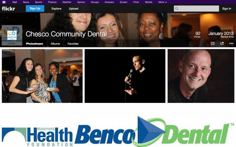 Screenshot of Flickr Page flickr.com - Flickr: Chesco Community Dental's Photostream - captured Oct. 22, 2014