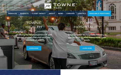 Screenshot of Home Page townepark.com - Home - captured Sept. 30, 2018