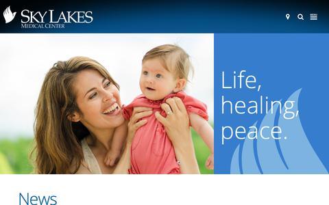 Screenshot of Press Page skylakes.org - News | Sky Lakes Medical Center - captured Oct. 19, 2018