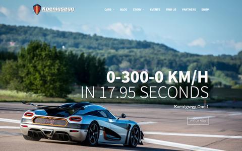 Screenshot of Home Page koenigsegg.com - Koenigsegg - captured Oct. 1, 2015