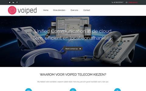 Screenshot of Home Page voiped.eu - Voiped Telecom - captured Feb. 15, 2016