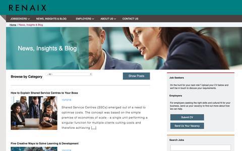 Screenshot of Blog renaix.com - News, Insights & Blog - captured Oct. 20, 2018