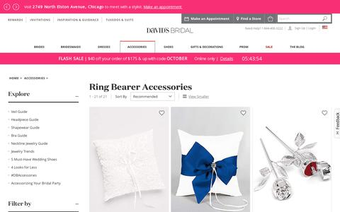 Ring Bearer Accessories: Pillows & Signs | David's Bridal