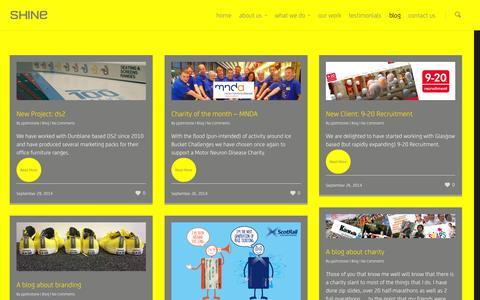 Screenshot of Blog theshineagency.com - Blog    SHINE – An exceptional creative resource - captured Sept. 30, 2014