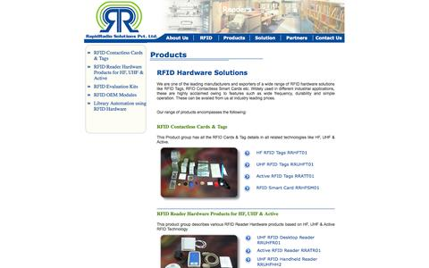 Screenshot of Products Page rapidradio.co.in - ::RapidRadio Solutions Pvt. Ltd., Ahmedabad:: - captured Oct. 7, 2014