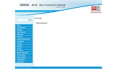 Screenshot of Team Page ah-automations.com - AH Automations (Pvt.) LTD. - captured Nov. 19, 2016