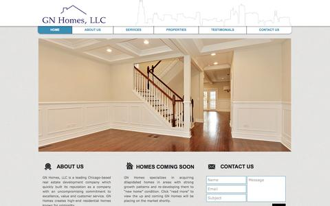 Screenshot of Home Page gnhomesllc.com - Home | GN Homes, Chicago - captured May 13, 2017