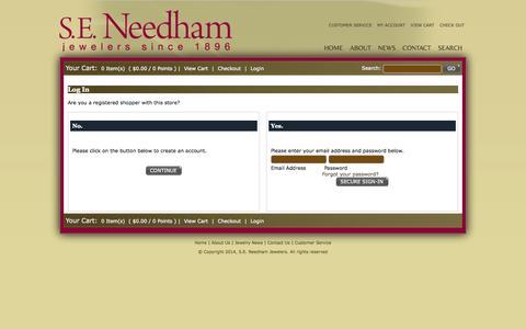 Screenshot of Login Page americommerce.com - Customer Login - captured Sept. 18, 2014