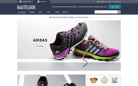 Screenshot of Home Page hautelook.com captured Dec. 29, 2015