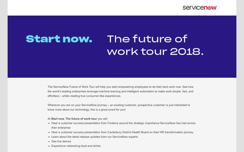 Screenshot of Landing Page service-now.com - ServiceNow - captured March 31, 2018