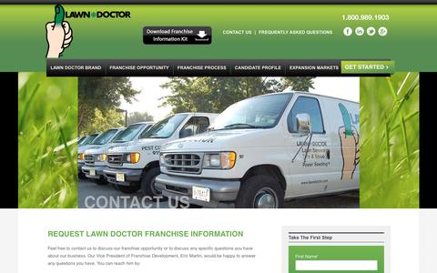 Screenshot of Contact Page lawndoctorfranchise.com - Lawn Doctor Franchise   Contact - captured Nov. 9, 2018